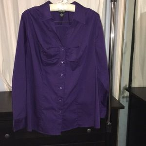 Lane Bryant long sleeve button down with bunching